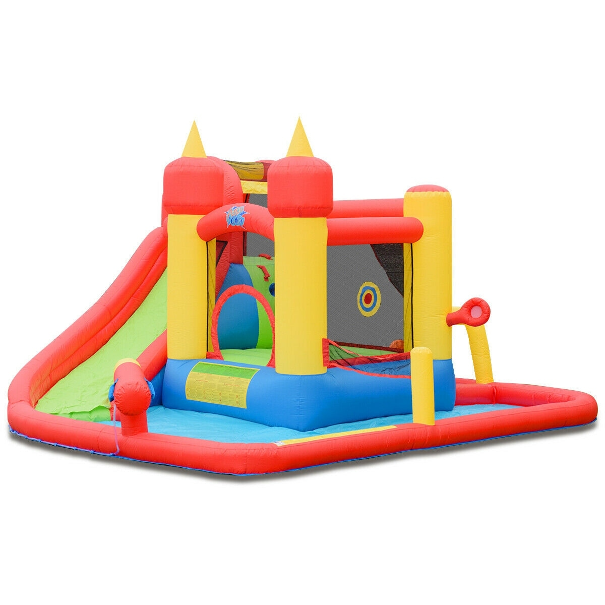 Inflatable Water Slide Jumping Bounce House With Ocean Ball Multi Overstock 30751173
