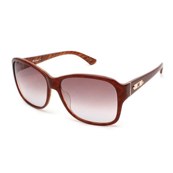 Shop Missoni Women's Striped Oversized Sunglasses Brown