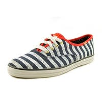 Keds Womens CH Stars Canvas Low Top Lace Up Fashion Sneakers