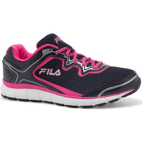 Fila Women's Memory Fresh Start SR Shoe Fila Navy/Pink Glo/White
