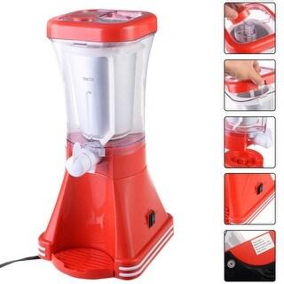 Costway Slush Drink Maker Retro Machine Blender Ice Slushie Margarita Slurpee Frozen - Red