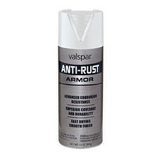 Valspar (21900) Gloss White Anti-Rust Armor Spray - 12 oz - gloss white