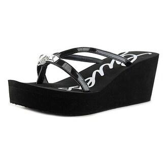Guess Shea Open Toe Synthetic Wedge Sandal
