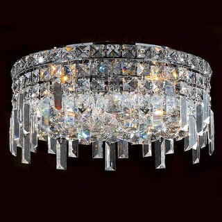 Worldwide Lighting W33607C16 Cascade 5 Light Flush Mount Ceiling Fixture - Polished chrome