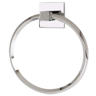 Alno A8440 6 Inch Diameter Towel Ring from the Contemporary II Collection