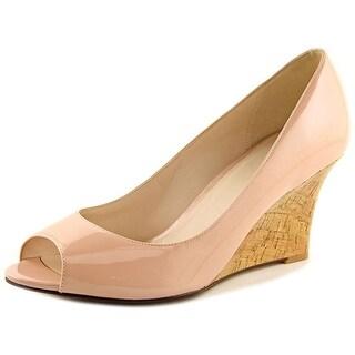 Cole Haan Lena Ot. Wedge II Women Open Toe Patent Leather Wedge Heel