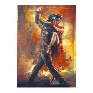 ''Tango Argentino'' by Pedro Alvarez Kunst Graphics Art Print (31.5 x 23.5 in.)