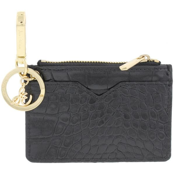 Next Black Faux Croc Leather Round Zip Coin Purse Bag Key//Chain//Ring Tassel Gift
