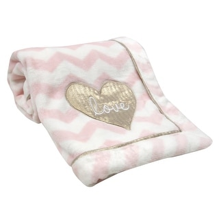 Link to Lambs & Ivy Baby Love Pink/White/Gold Heart Love Soft Luxury Minky Baby Blanket Similar Items in Baby Blankets