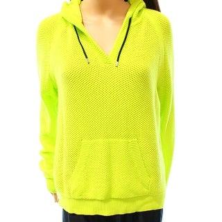 Lauren Ralph Lauren NEW Yellow Women's Size XL Hooded V-Neck Sweater