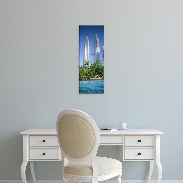 Easy Art Prints Panoramic Images's 'Malaysia, Kuala Lumpur, View of Petronas Twin Towers' Premium Canvas Art