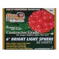 Holiday Bright Lights SLS-50-RD 6 in. Starlight Spheres  Red Lights