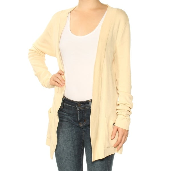 23958dc197934b Shop ANNE KLEIN Womens Beige Long Sleeve Open Cardigan Wear To Work Sweater  Size: XS - Free Shipping On Orders Over $45 - Overstock - 24087165