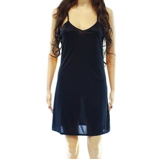Designer NEW Black Semi-Sheer XL Babydoll Sleepwear V-Neck Dress