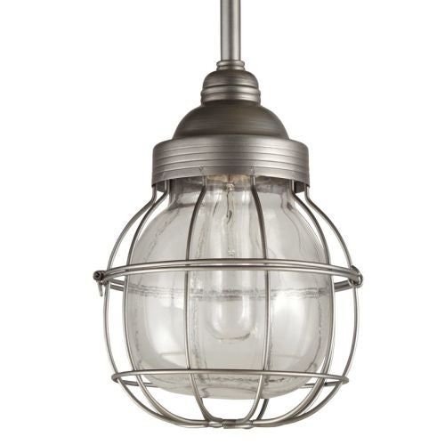 "Park Harbor PHPL5471 7"" Wide Single Light Mini Pendant with Wire Glass Guard"