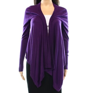 Tory Burch NEW Purple Women's Size XS Cardigan Open-Front Solid Sweater