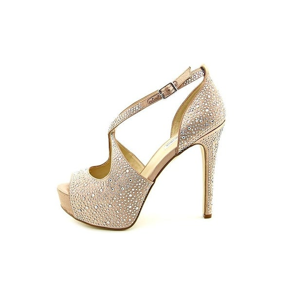 INC International Concepts Womens Melvie 2 Peep Toe Ankle Strap Platform Pumps - 7.5