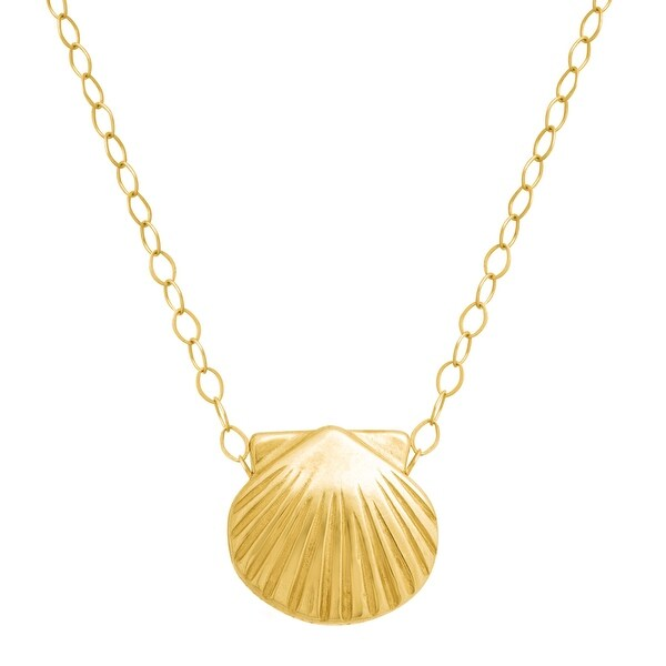 Just Gold 'Itsy-Bitsy' Seashell Pendant in 10K Gold - Yellow