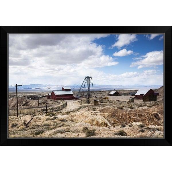 """Tonopah Historic Mining Park, Tonopah, Great Basin, Nevada"" Black Framed Print"