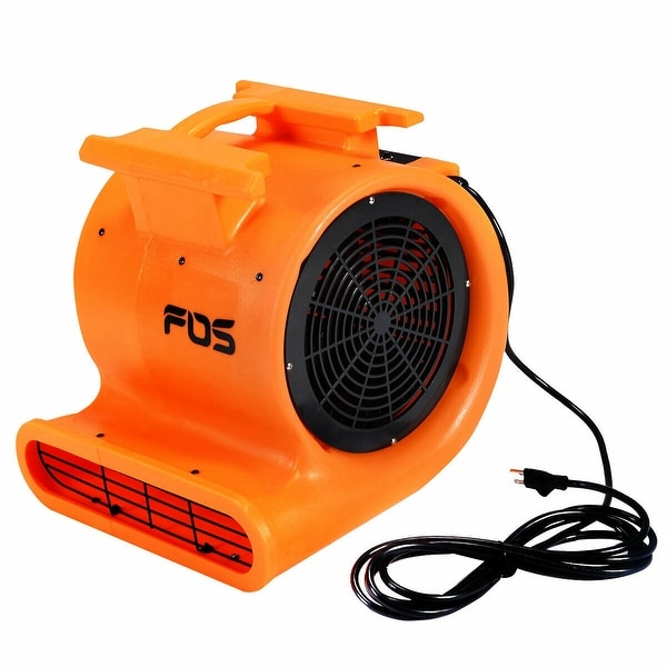Industrial Orange Air Mover 3 Speed 1 HP Blower Fan Stackable