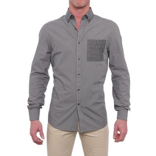 Kenneth Cole Reaction Long Sleeve Collared Button Down Men Regular Casual
