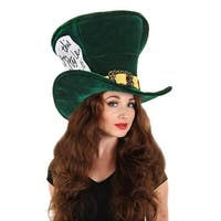 Alice in Wonderland Madhatter Hat Adult Costume Accessory One Size - Green