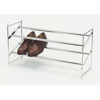 Whitmor 6023-210 Expandable And Stackable Shoe Rack, White