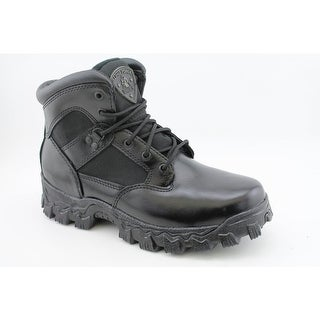 """Rocky Duty 2167 6"""" Alpha Force Men Round Toe Leather Black Combat Boot"""