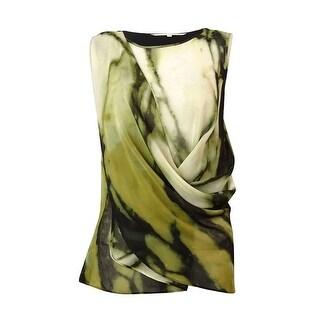 Rachel Roy Women's Draped Chiffon Blouse - Pearl Combo - XS