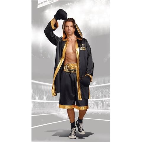 Plus Size Men's World Champion Boxer Costume, Plus Size Men's Boxing Costume - As Shown - 2X