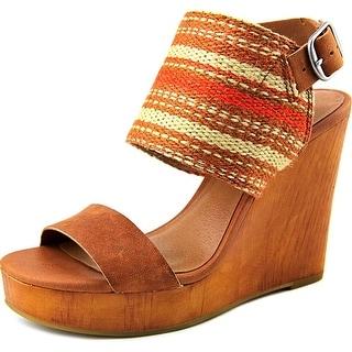 Lucky Brand Lapaloma Women Open Toe Canvas Multi Color Wedge Heel