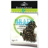 Eyelet Outlet  Eyelet Outlet Round Brads 4mm 70/Pkg-Brushed Brass