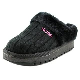 Lil' Bobs by Skechers Keepsakes-Sweater Softies Youth Black Slipper