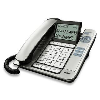 RCA 1113-1BSGA Corded Desktop Phone W/ Base Speakerphone (Silver)