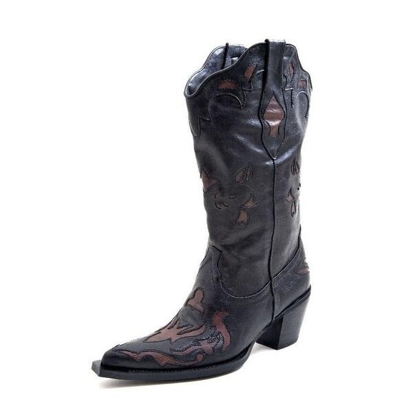 "Roper Western Boots Womens 13"" Underlay Black"