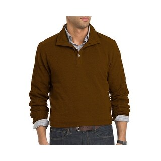 Van Heusen NEW Orange Syrup Men's Size Large L Henley Knit Sweater