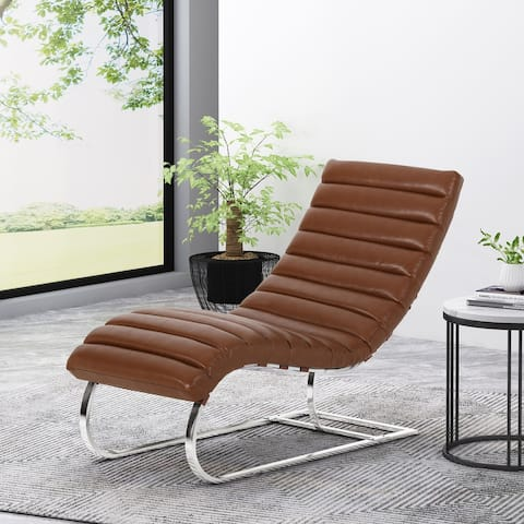 Pearsall Channel Stitch Chaise Lounge by Christopher Knight Home