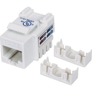 """Intellinet 210591 Intellinet Cat6 UTP Punch-down Keystone Jack, White - Plastic housing for use with 22 to 26 AWG stranded and"