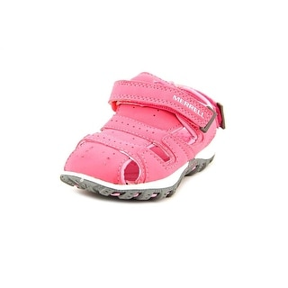 Merrell Youth Aquasquirt Deck Toddler Round Toe Leather Pink Sport Sandal
