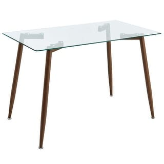 Contemporary Glass/Metal Dining Table