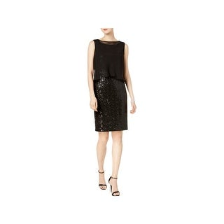 Ellen Tracy Womens Cocktail Dress Sequined Sheath