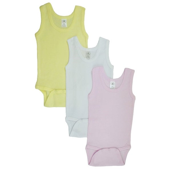 Girls Tank Top Onezies (Pack of 3) - Size - Medium - Girl