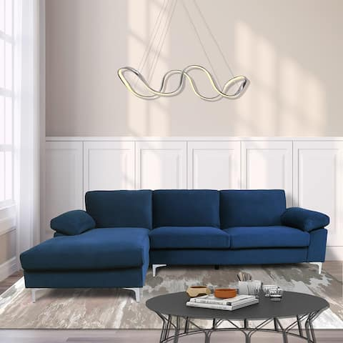 Moda Facing Blue Velvet Sofa Sleeper
