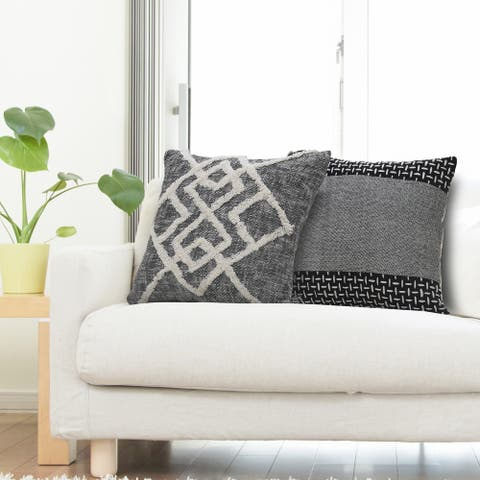 Tufted Geometric Diamond Modern Throw Pillow