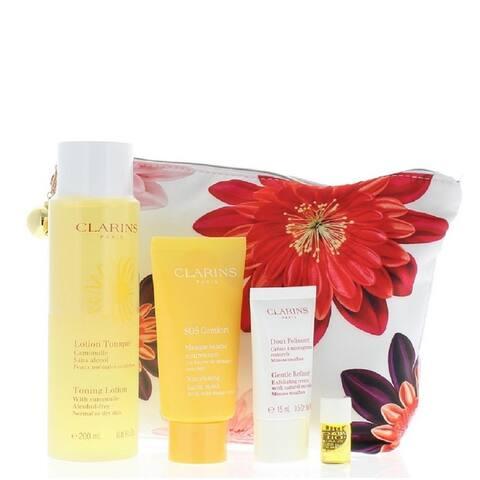 Clarins Programme Douceur Kit (Exfoliating Body Scrub 200 ml, Tonic Body Treatment Oil 100 ml and Stretch Mark Minimizer 200 ml)