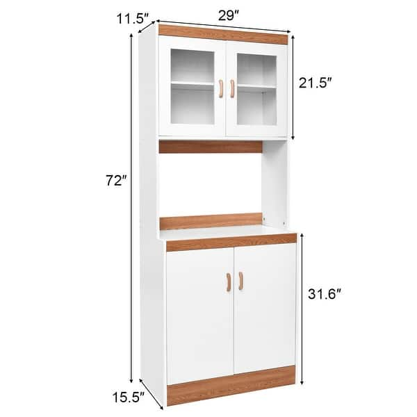 Shop Tall Shelves Microwave Cart Stand Kitchen Storage Cabinet