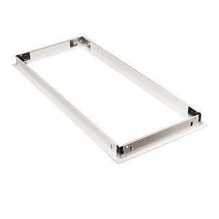 "Metalux DF-14-U 12"" x 48"" Dry Wall Frame Kit - Baked White Enamel"