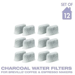 GoldTone Charcoal Water Coffee & Espresso Filter Cartridges, Replaces Breville BWF100 Charcoal Water Filters- Set of 12