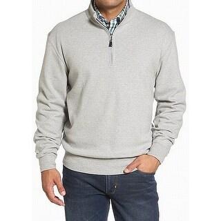 Peter Millar Gray Mens Size Medium M 1/2 Zip Pullover Sweater