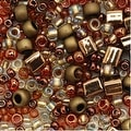 Toho Multi-Shape Glass Beads 'Ocha' Bronze Color Mix 8 Gram Tube - Thumbnail 0